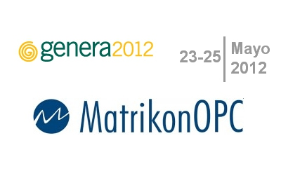 MatrikonOPC estar presente en el FORO GENERA 2012 en Madrid el 24 de Mayo 