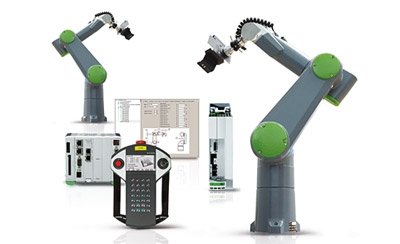 Packaging con varios robots compartiendo la zona de trabajo